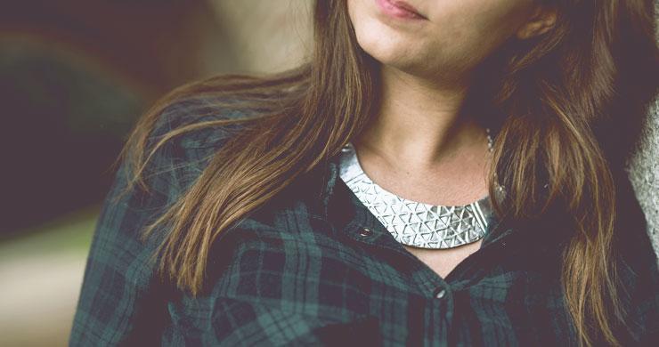 DIY bijoux - collier plastron_argent- fimo