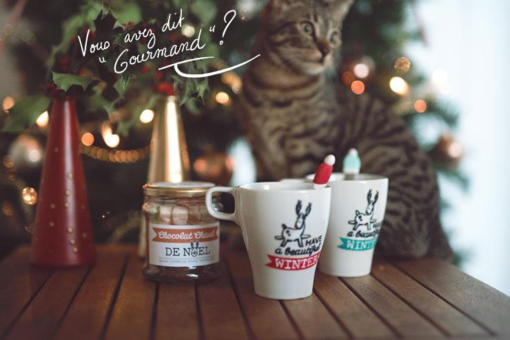 DIY cadeau noel panier gourmand mug cuillere chocolat